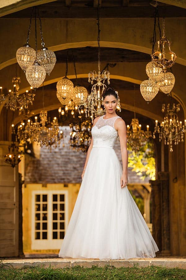 "The ""Isabella"" gown from Bertossi Brides french inspired bridal collection."
