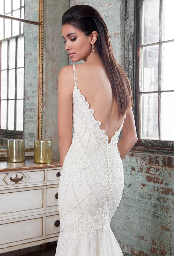 Lilian West beaded open v back gown from Spring Summer 2016 collection