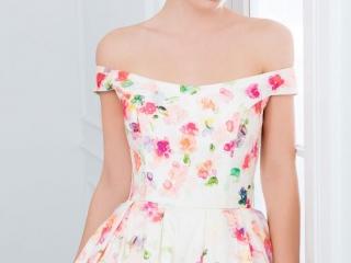 Wendy Makin floral wedding dress.