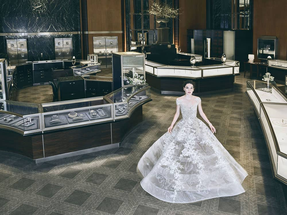 Reem Acra's Spring 2018 collection inspired by Breakfast at Tiffany's.