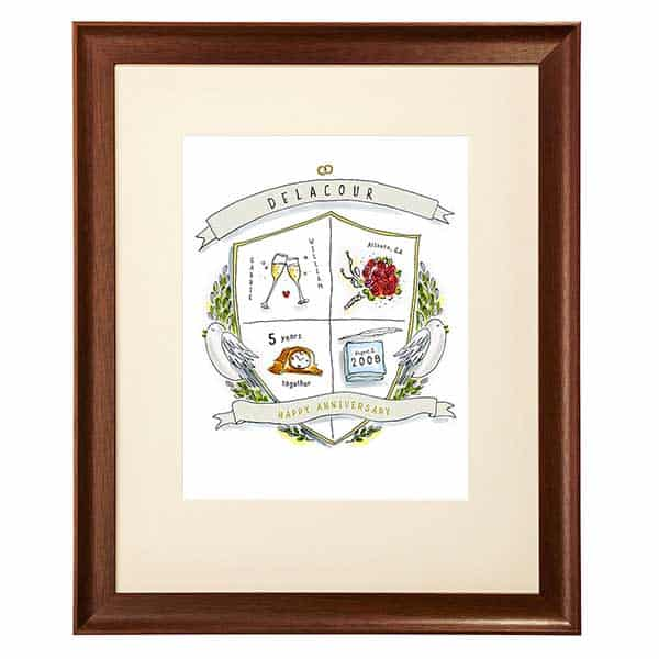 Anniversary crest print from uncommon goods