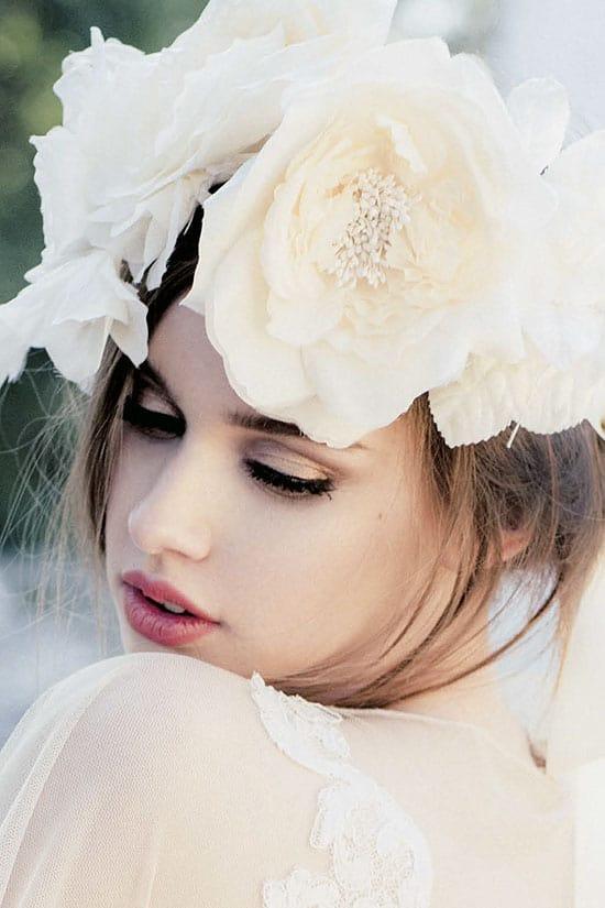 White flower crown.
