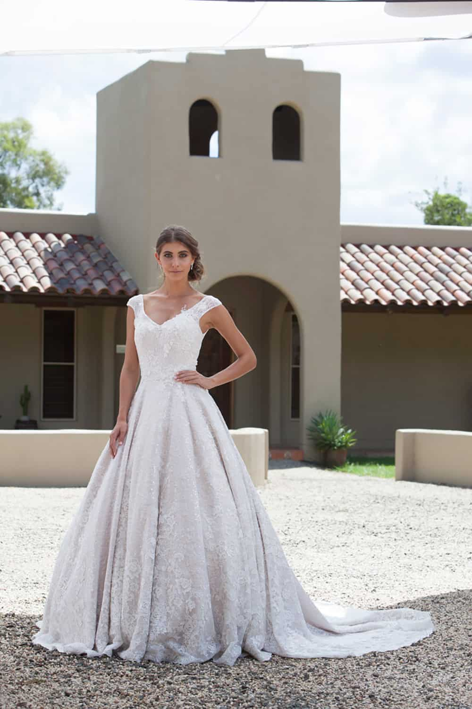 Wedding dress from Jack Sullivan Bridal.