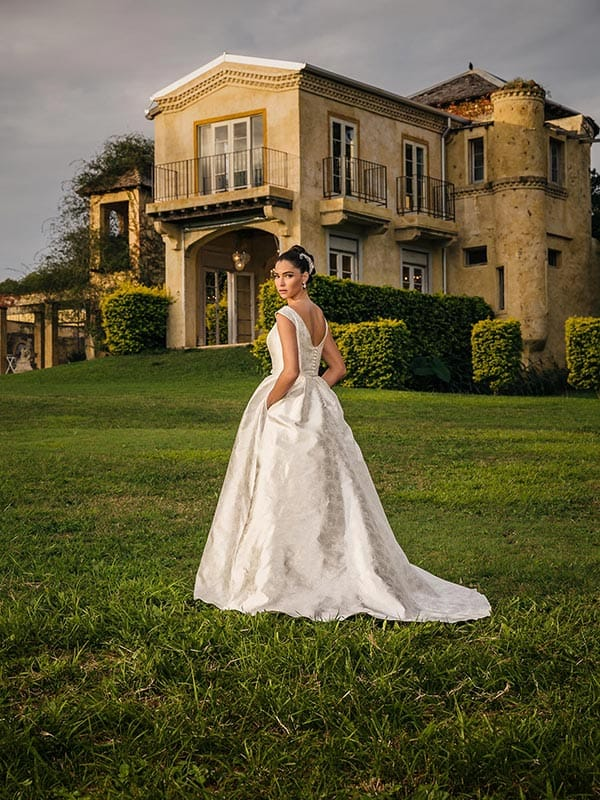 "The ""Mary"" gown from Bertossi Brides french inspired bridal collection."