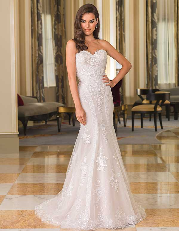 Lilian West beaded bodice wedding gown from Spring Summer 2016 collection
