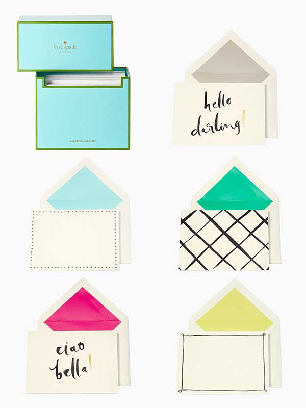 Kate Spade NY Hello Darling card set from Papier D'Amour