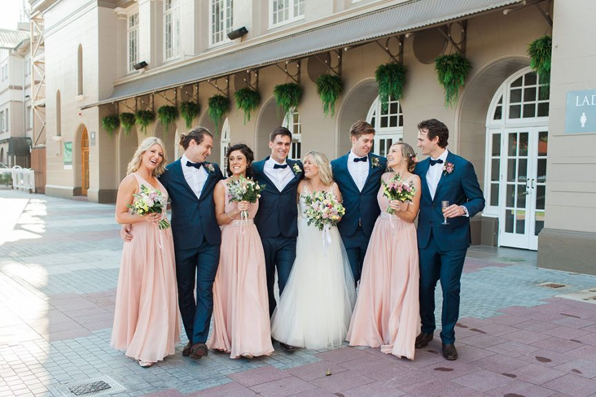 Perfect pink hues at Anna & Carkeet's real wedding
