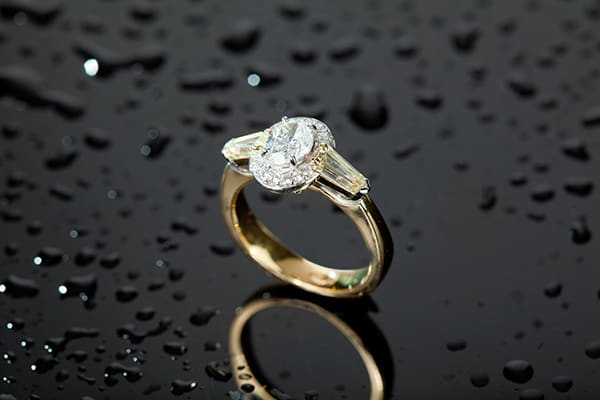 The 'Oval' shaped diamond ring