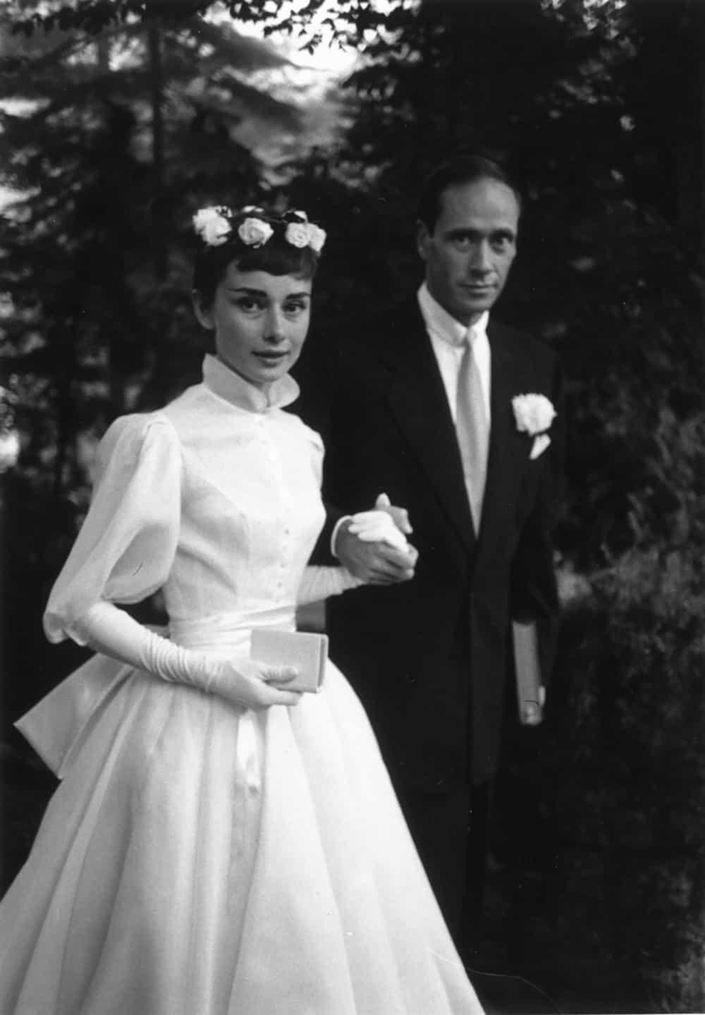 Wedding of Audrey Hepburn.