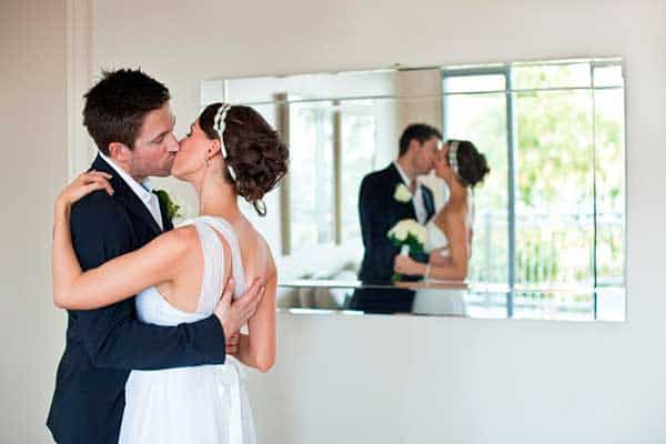 Bride and groom at Peppers Airlie Beach.
