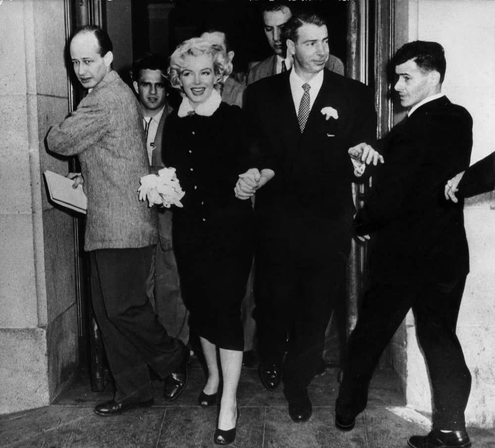 Wedding of Marilyn Monroe.