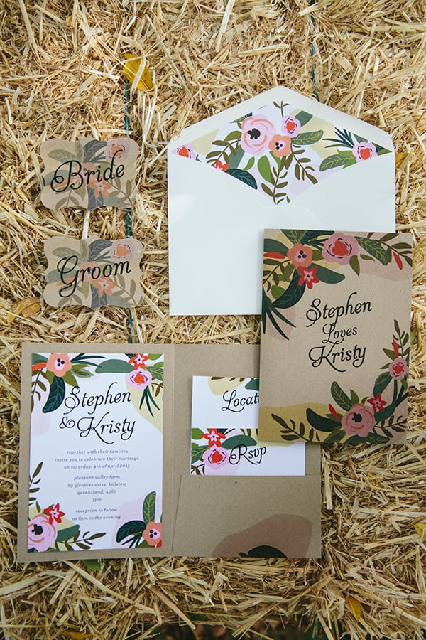 Environmentally friendly wedding invites