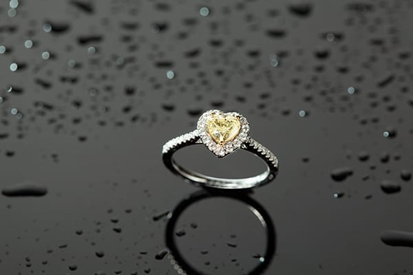The 'Heart' shaped diamond ring from Gillett's Jewellers