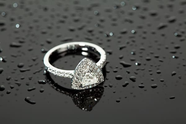 The 'Trillion' shaped diamond ring from Crown Family Jewellers