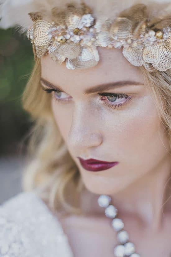 Winter bridal beauty.