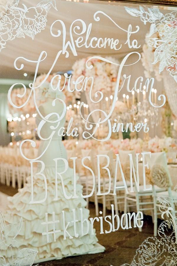 The set up of the Karen Tran Gala Dinner Brisbane.