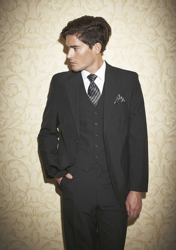 Groom style from Roger David. Black on black.