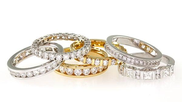 Ladies diamond weddings ring set
