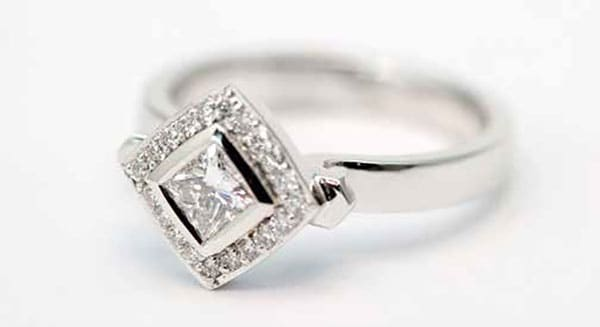 Diamond engagement ring from Stephen Dibb Jewellery