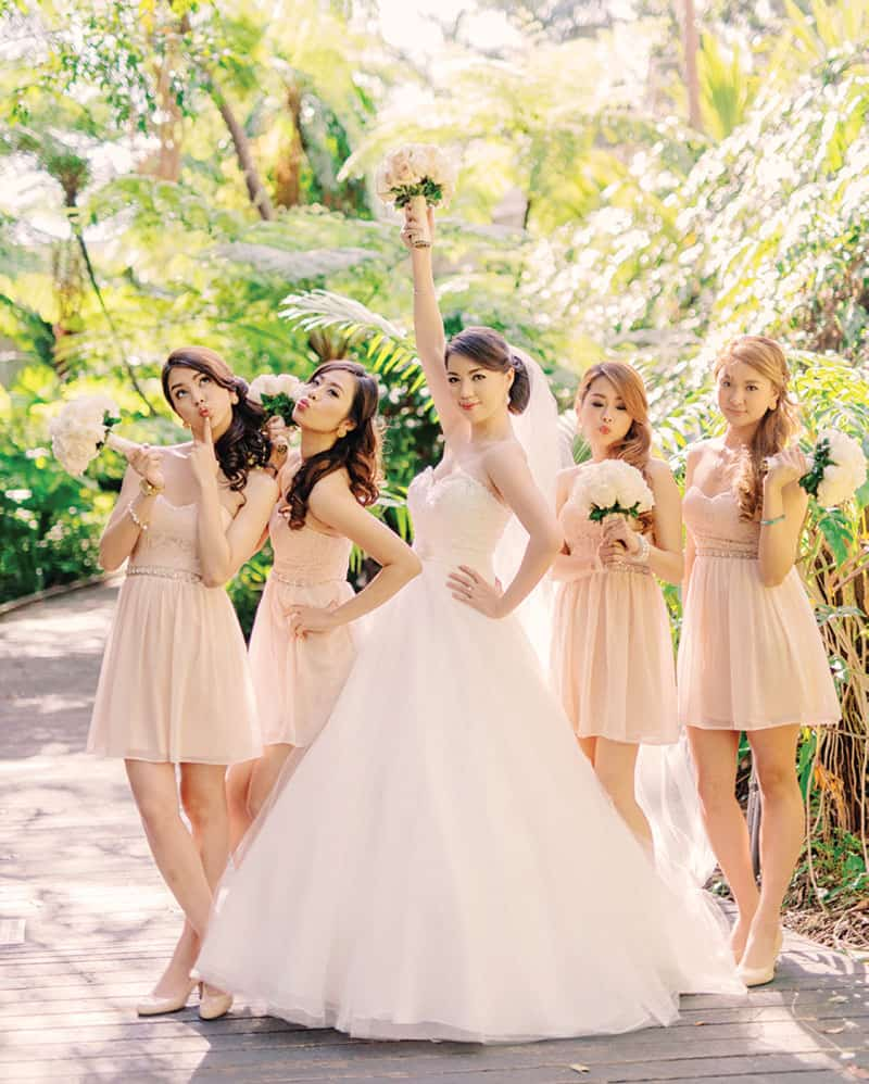 Bride and her #bridetribe ready to party!
