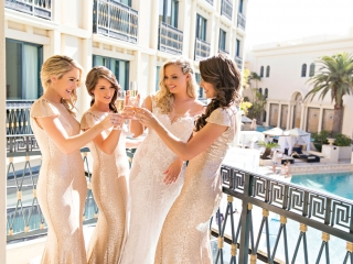 This #bridetribe opted for soft gold sparkles to match the bride. Photo: Milque