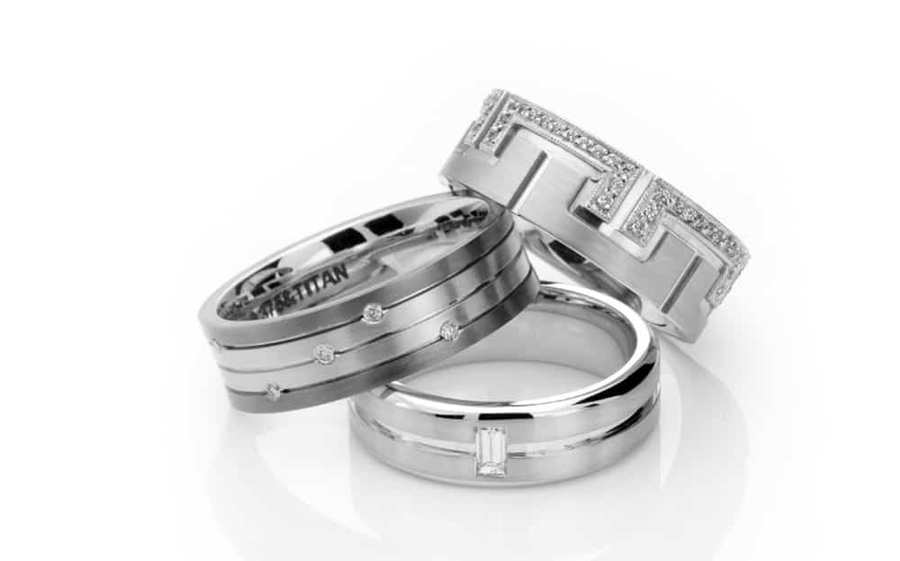 silver mens wedding band