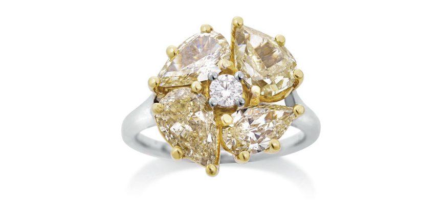 Fancy cut diamond ring