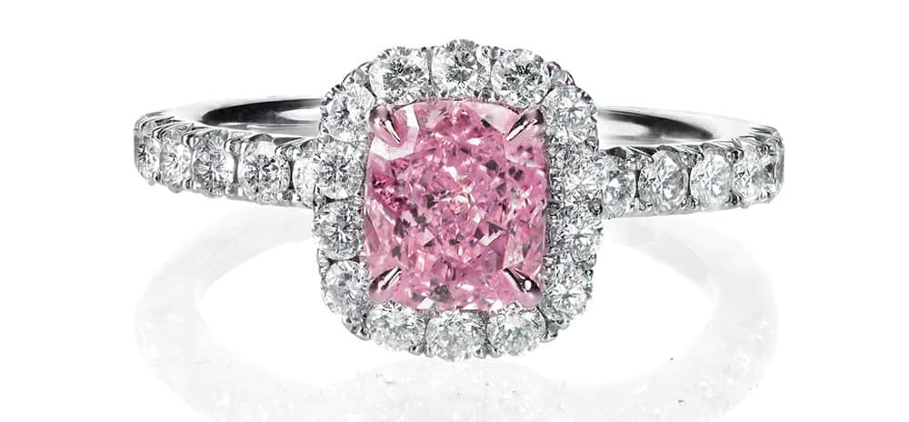 engagement rings: Pink diamond by Argyle diamonds