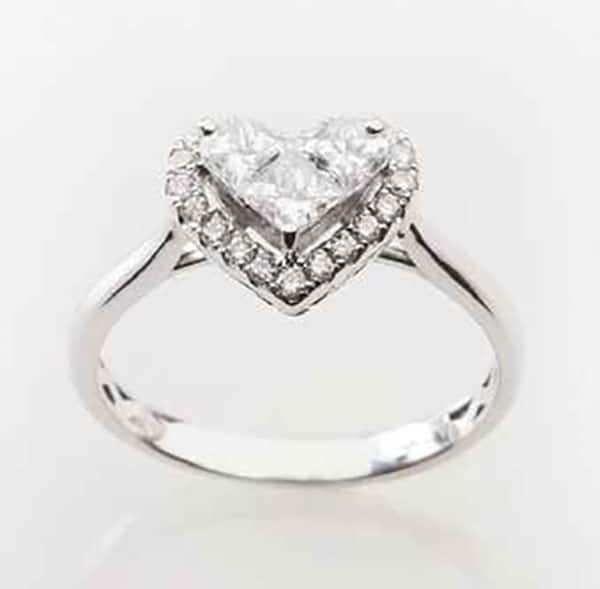 Heart-shaped diamond engagement ring from Starfire Diamonds.