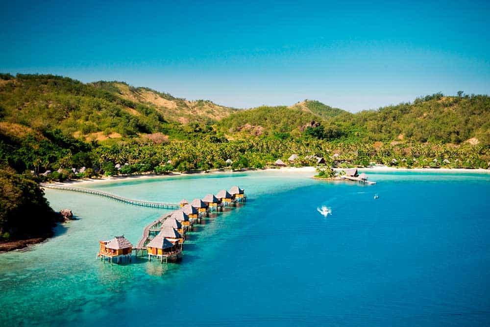 Honeymoon Fiji: aerial shot of the islands.