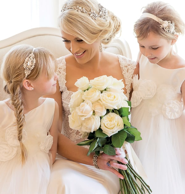 Kids at weddings: Adorable flower girls with their bride.