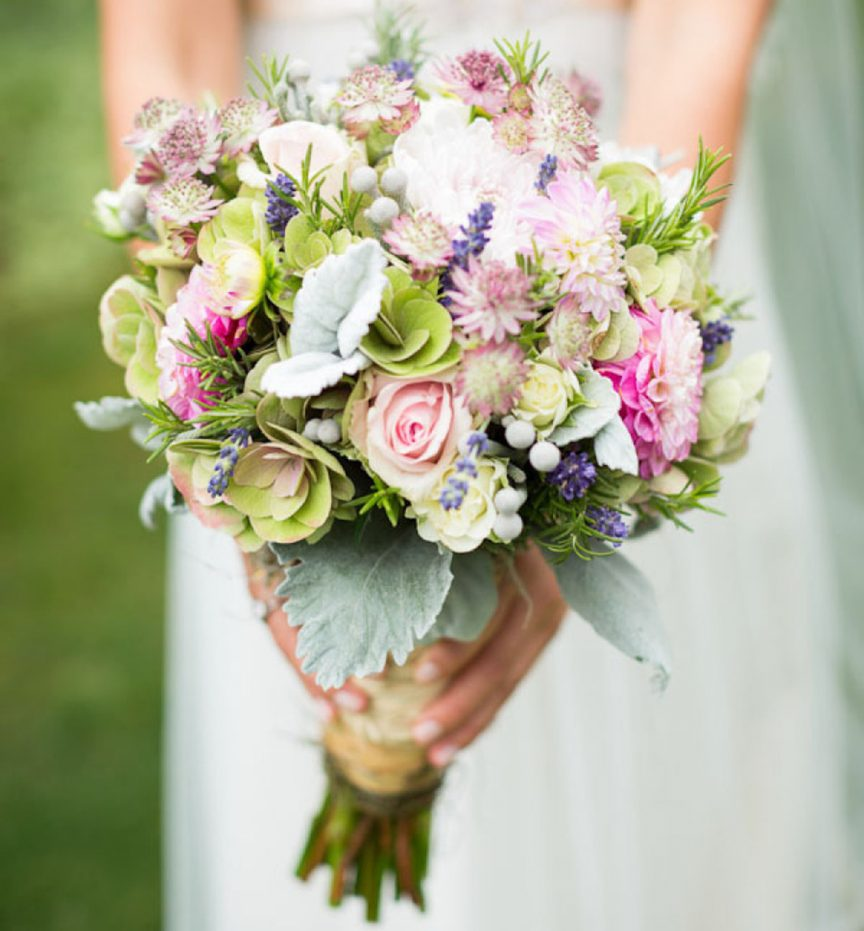 Pastel wildflower bouquet