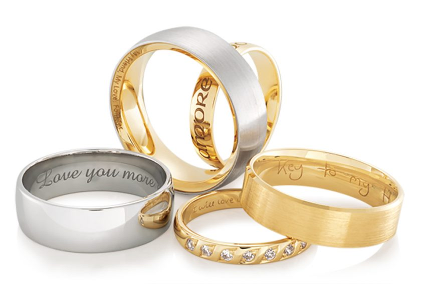 Personalised wedding bands