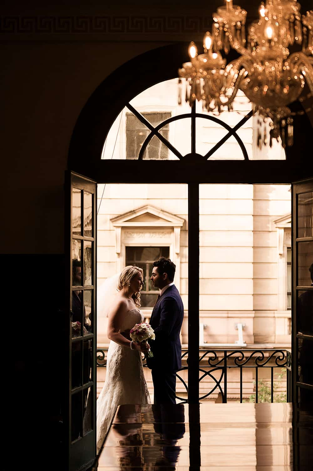 Bride and groom photographed by Christopher Thomas Photography.