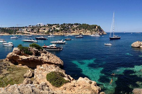 Mallorca as a honeymoon destination.
