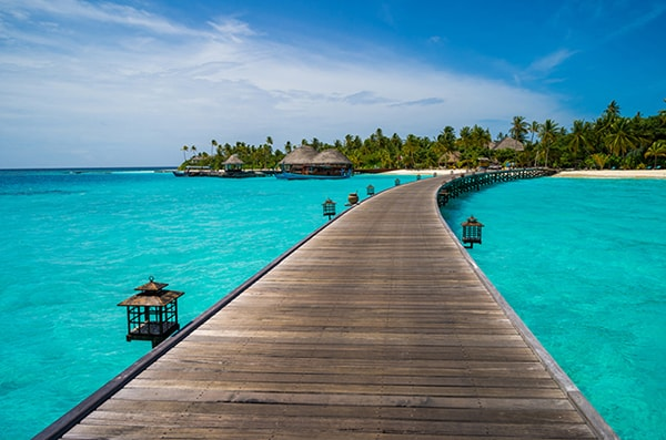 The Maldives as a honeymoon destination