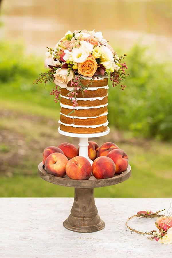 naked wedding cake boho wedding style