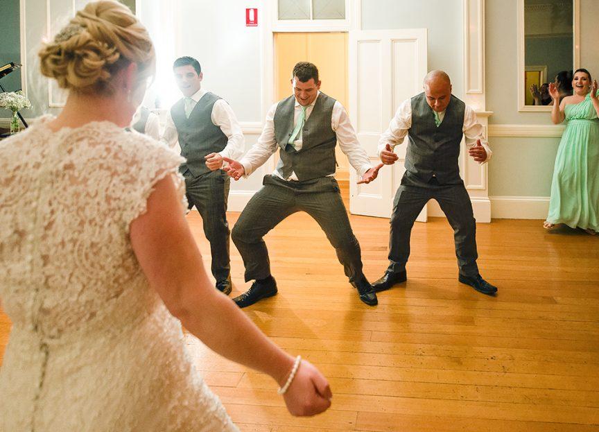 Groomsmens' dance routine