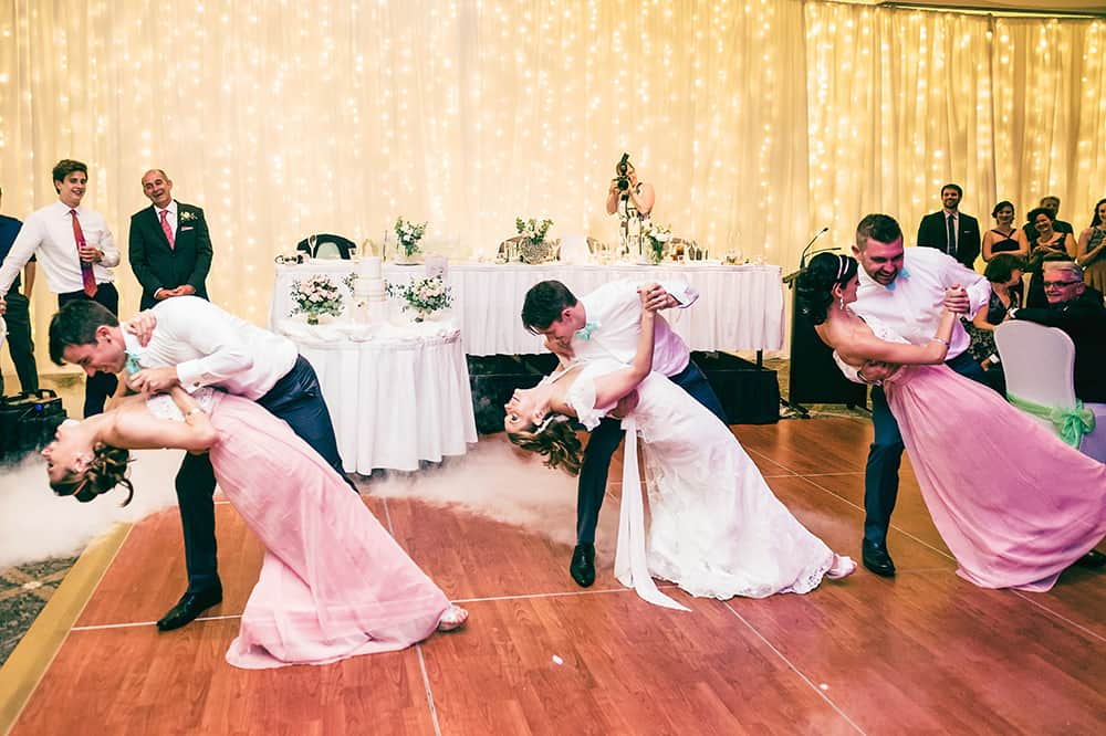 The first dance with the bridal party