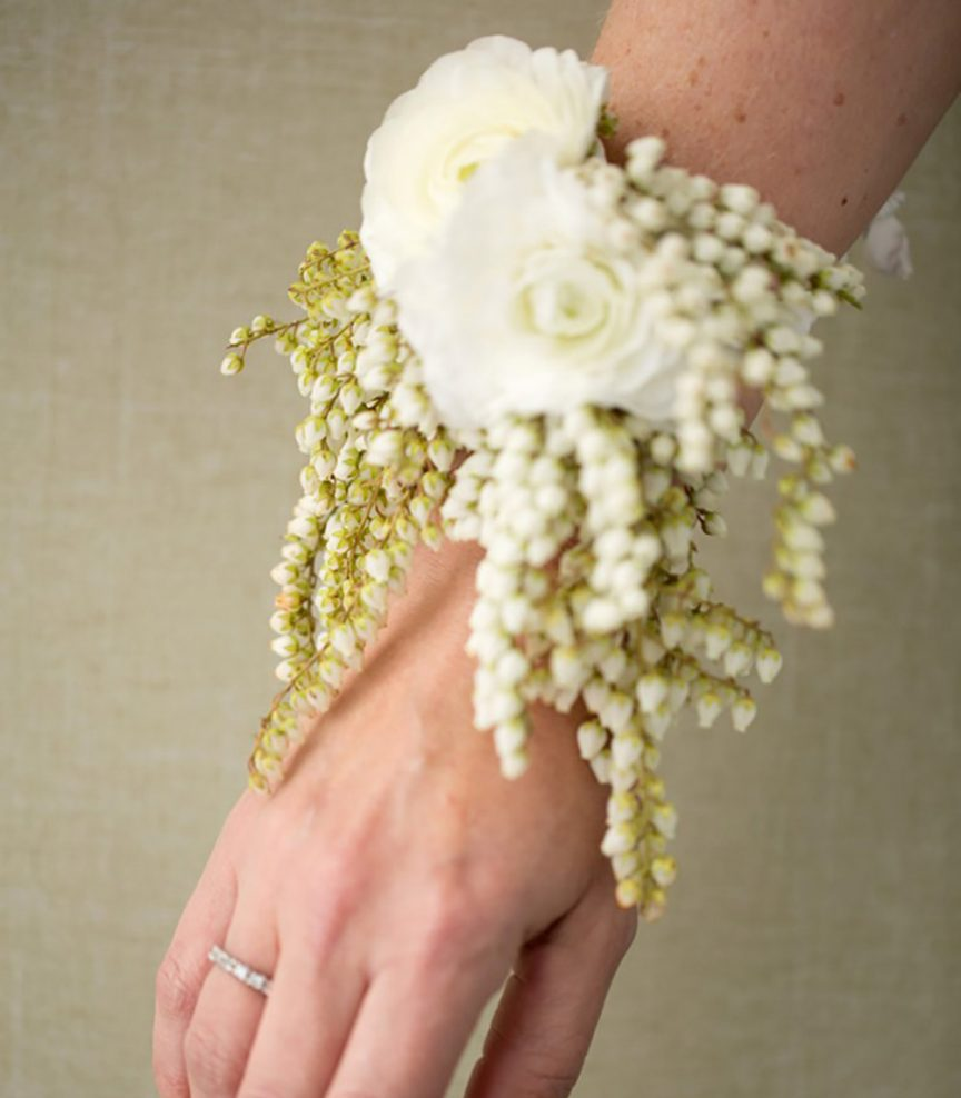 Wrist corsage by Amy Lynne Originals. Photo: liznemeth.com