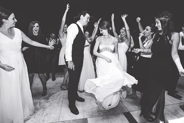 Bride and groom dancing at wedding by Danielle D'Arcy Photography.