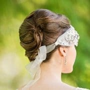 Pearl-embellished head wrap