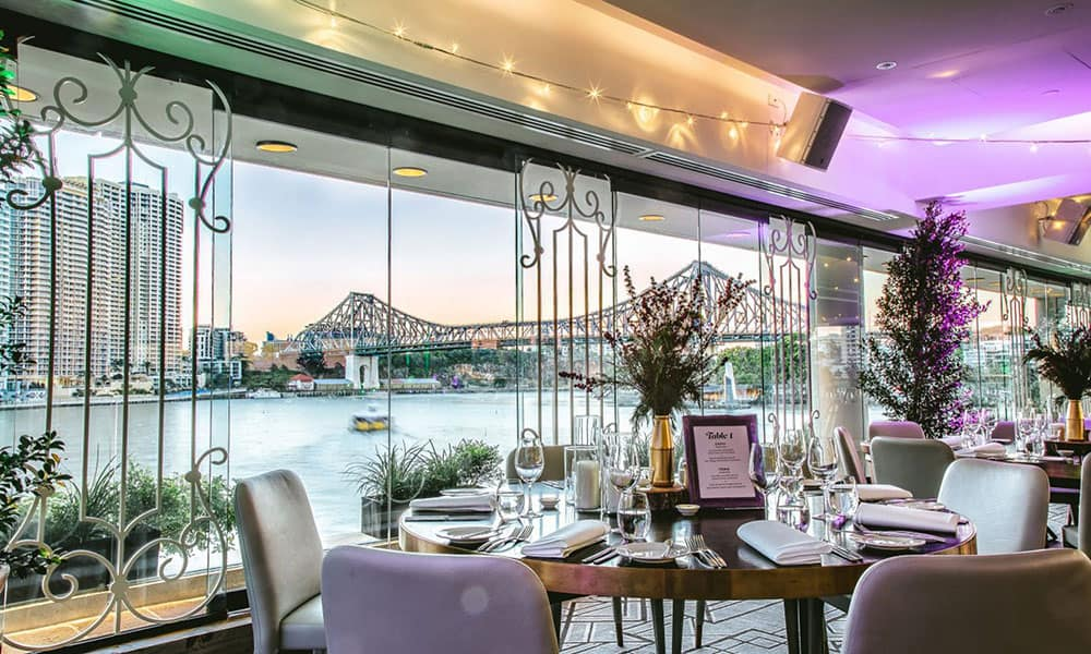Brisbane Riverside views at Blackbird Bar & Grill.