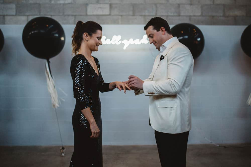 Hannah and Drew's rockstar styled wedding at The Joinery.