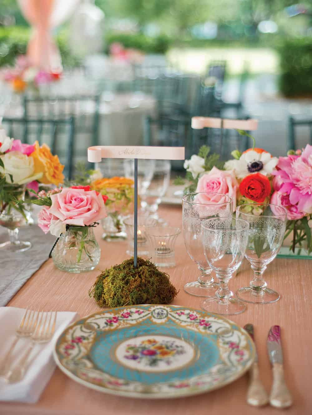 a brunch wedding and table setting