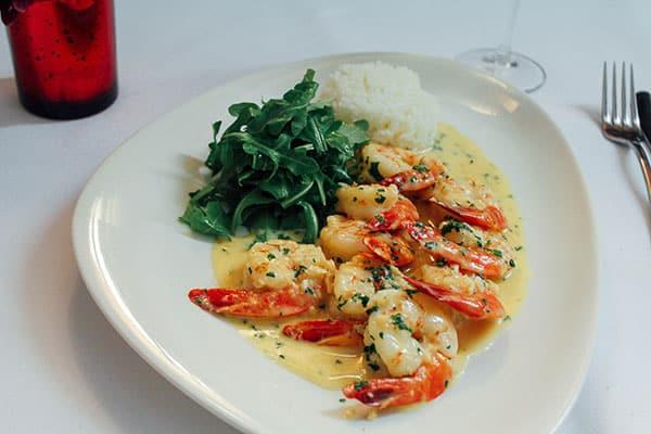Chilli prawns on the wedding menu.