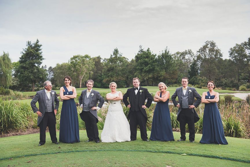 Wedding party at Lakelands Golf Club