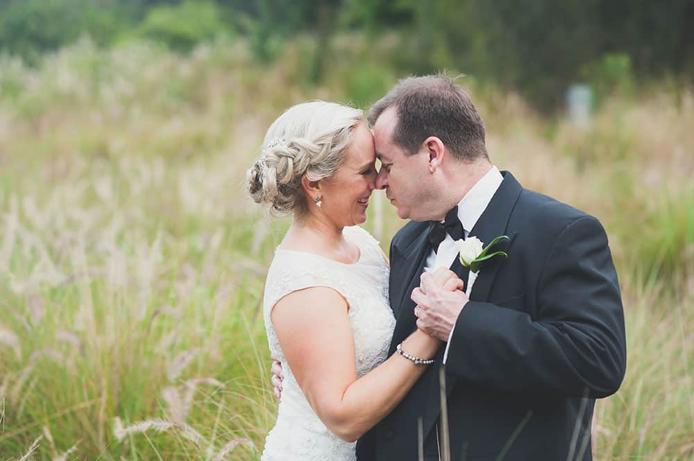 Bride Esther and groom Damien at Lakelands Golf Club