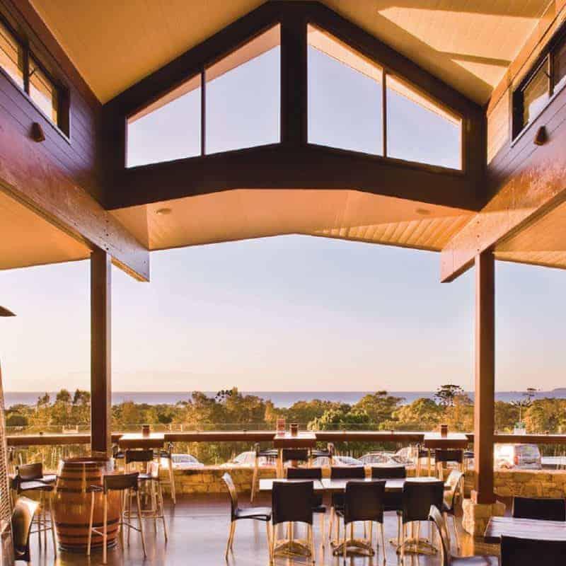 Reception venue with water views