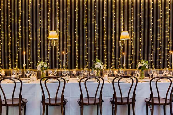 Wedding reception set up at Port Office Hotel.